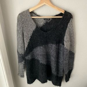 Eileen Fisher gray mohair blend sweater